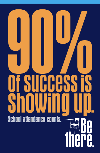 90 percent of success is showing up