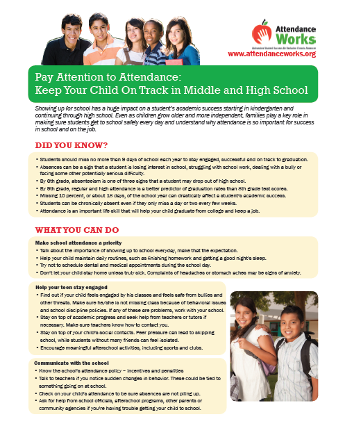 Handouts for Families - Attendance Works