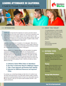 Attendance Works Leading Attendance in CA Principals Toolkit