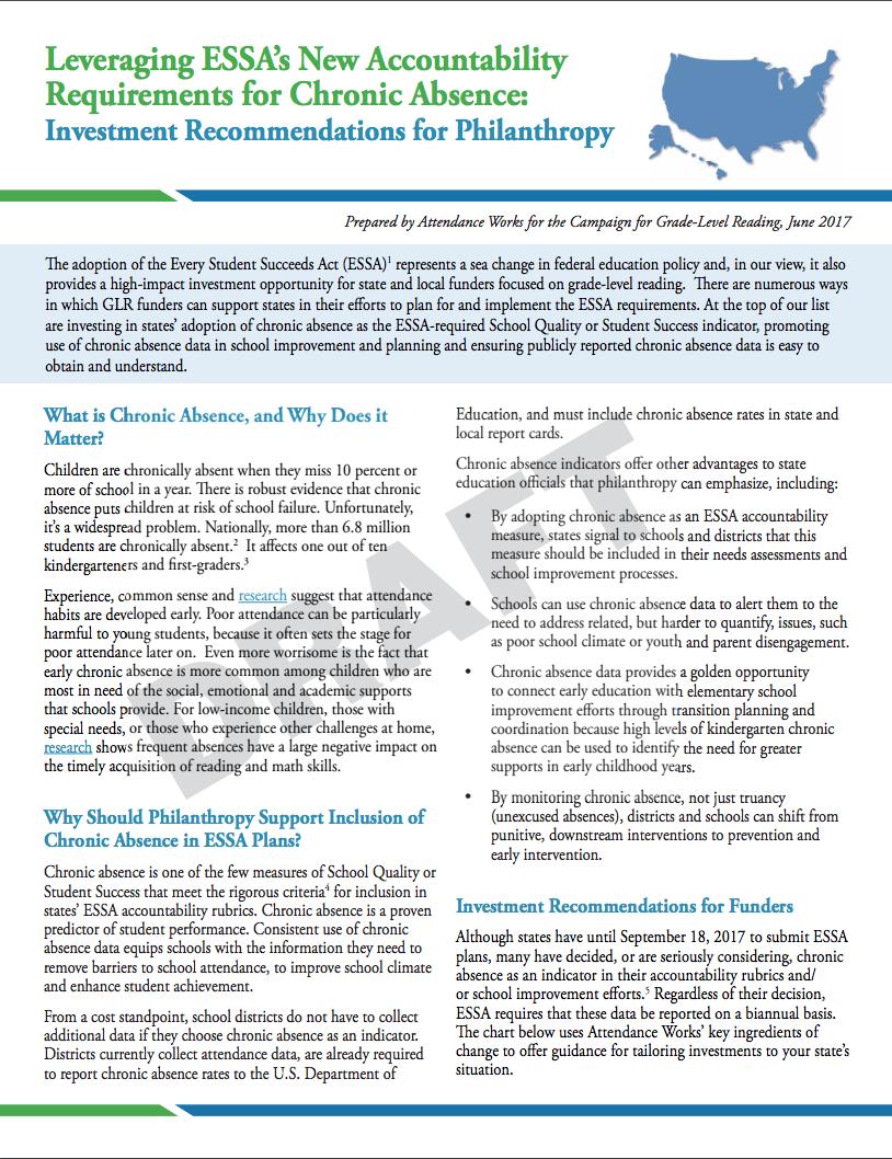 Leveraging ESSA Brief Cover