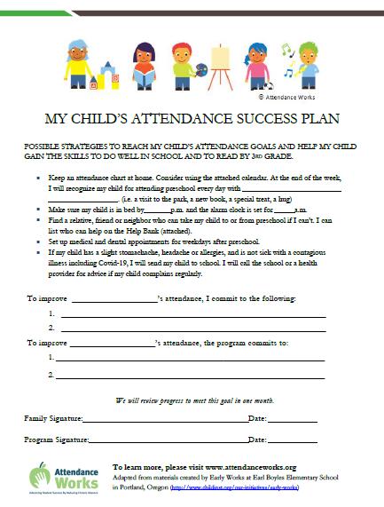 preschool success plan image